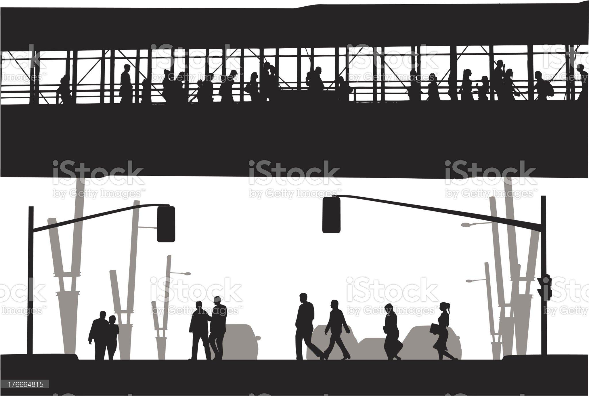 Walkway royalty-free stock vector art