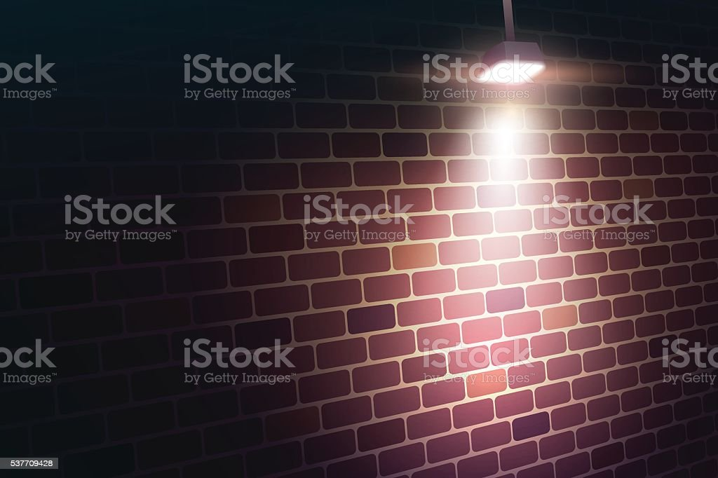 Wall and light royalty-free stock vector art