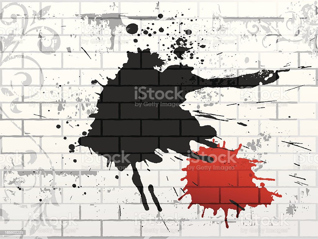 background de muro vector art illustration