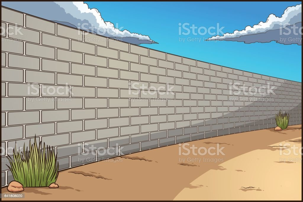 Wall background vector art illustration