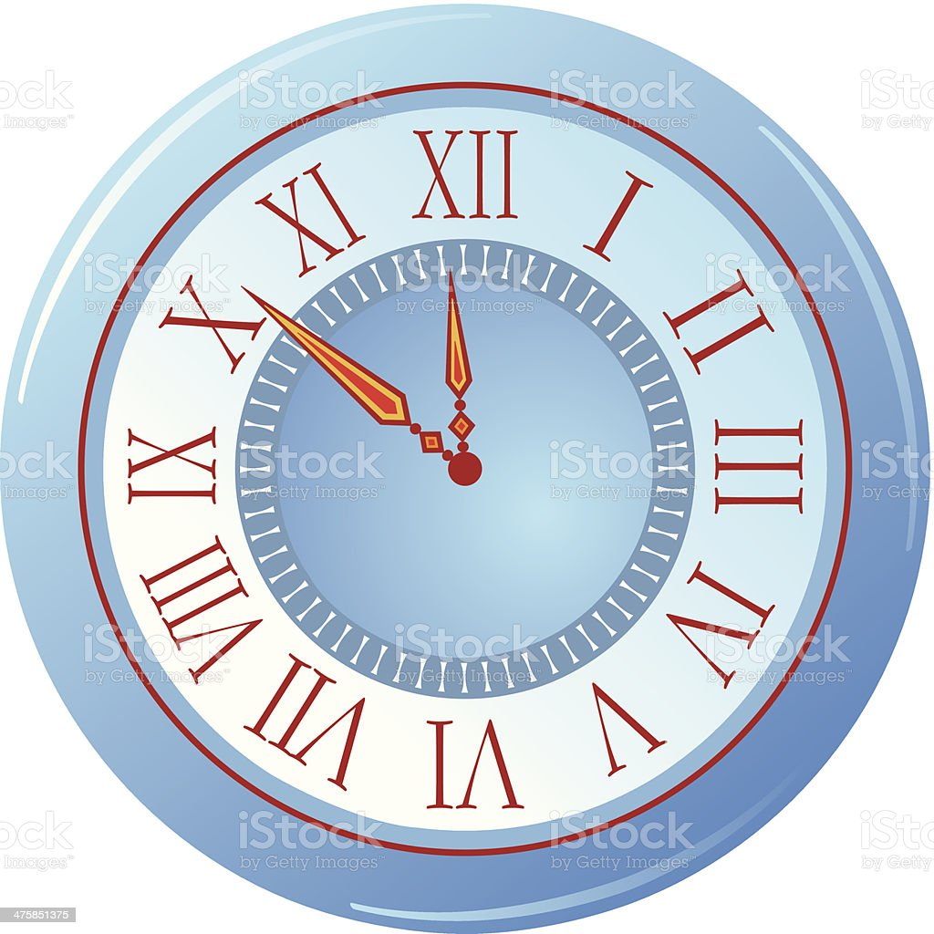Wall Clock C vector art illustration