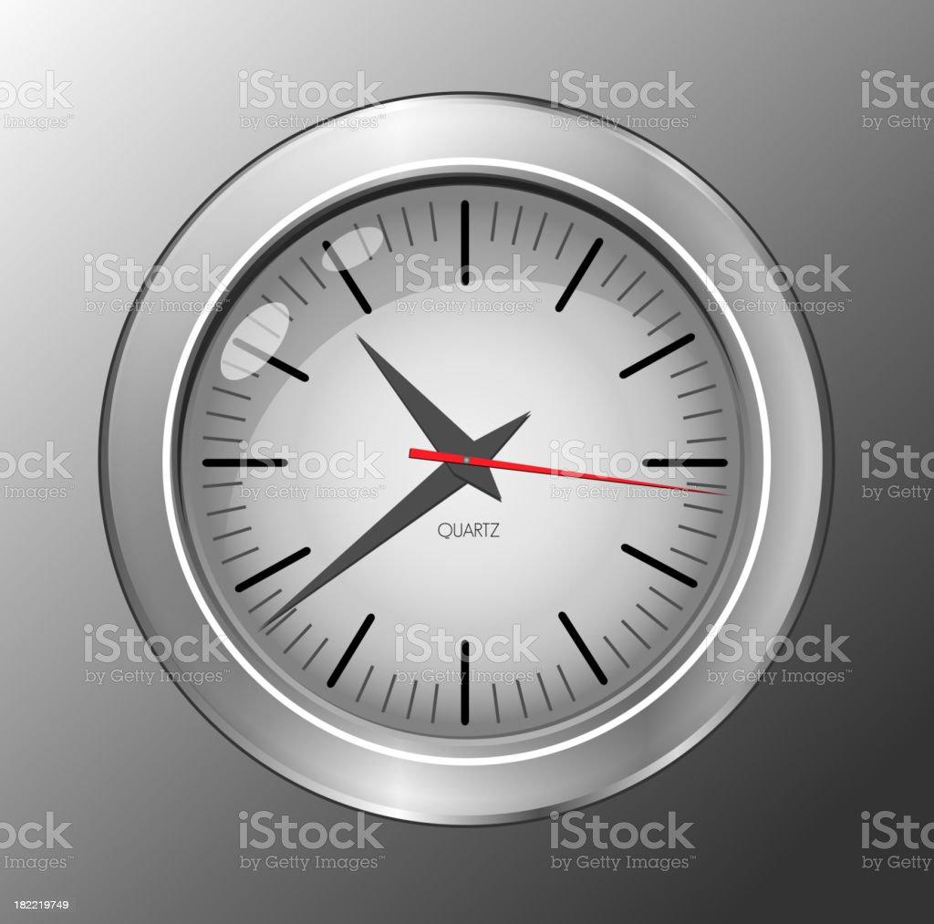 Wall clock royalty-free stock vector art