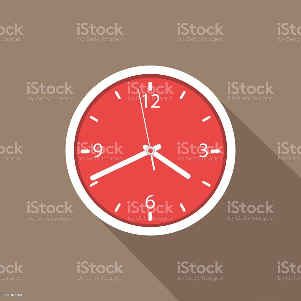 Wall clock vector art illustration