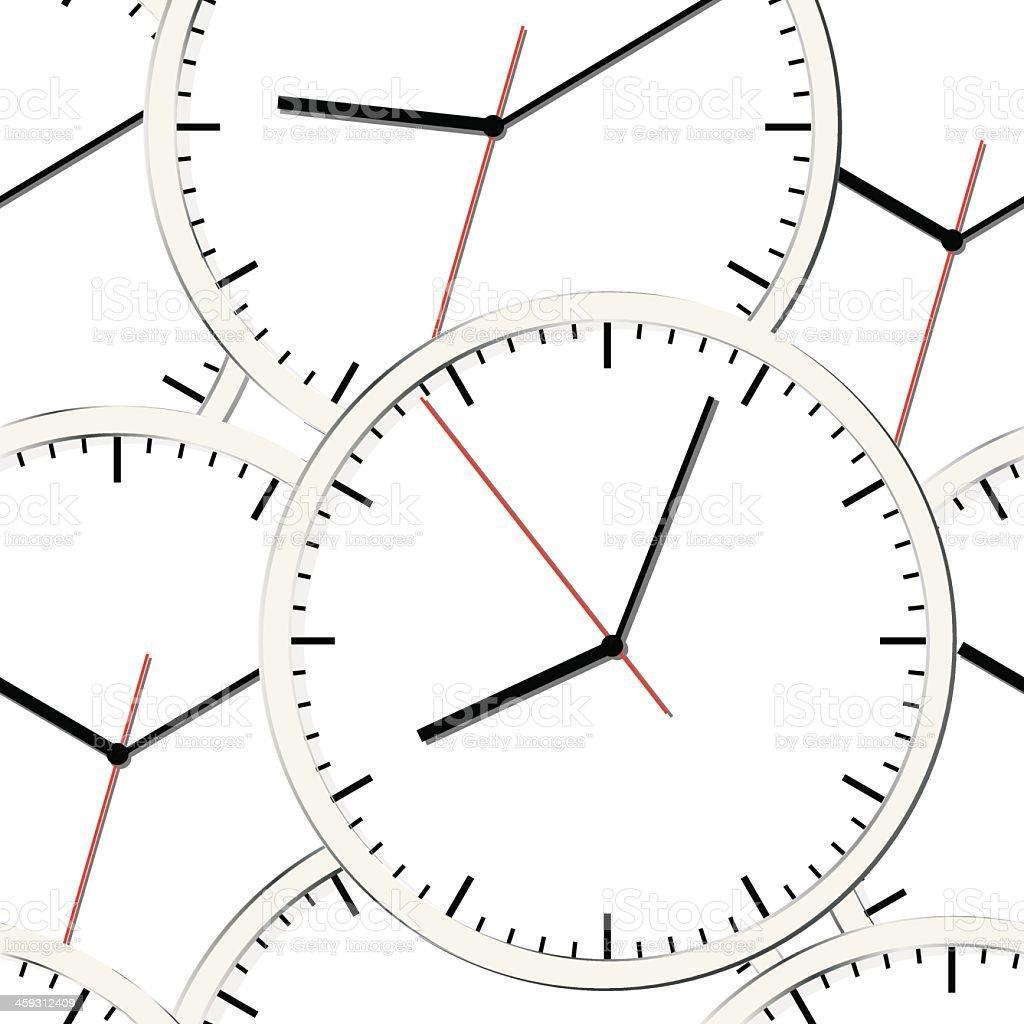 Wall clock. Vector illustration. Seamless. vector art illustration