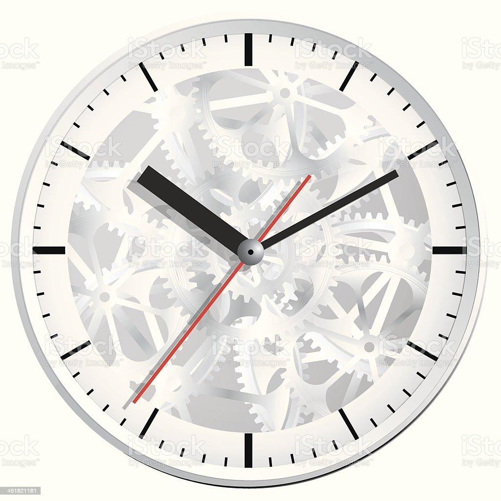 Wall clock. Vector illustration. vector art illustration