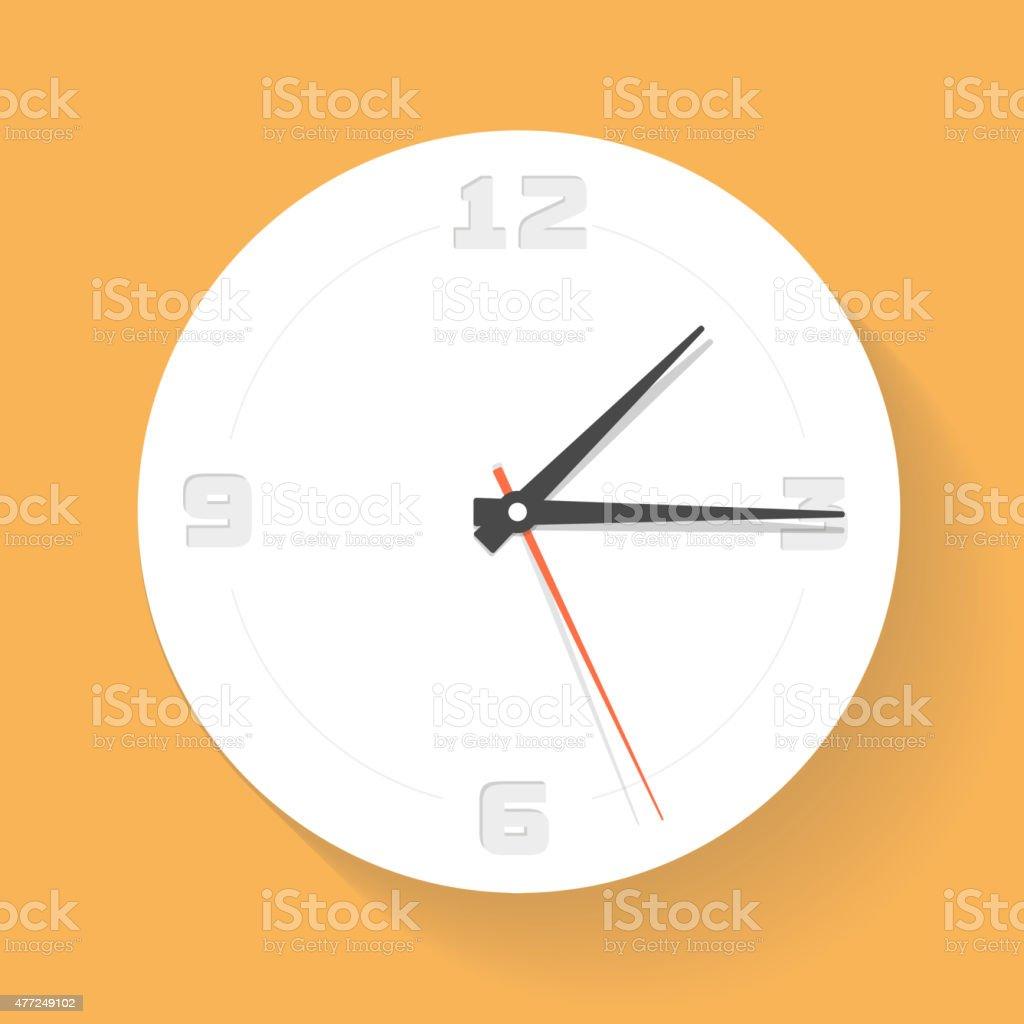 Wall clock. Watch. Vector icon vector art illustration