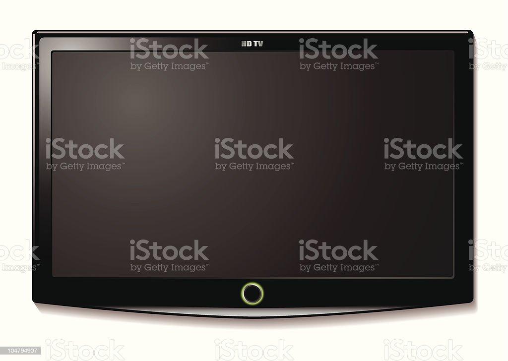 LCD TV wall hang vector art illustration