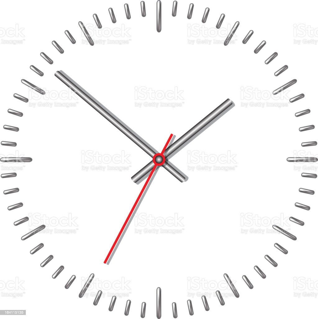 Wall mechanical clock. royalty-free stock vector art