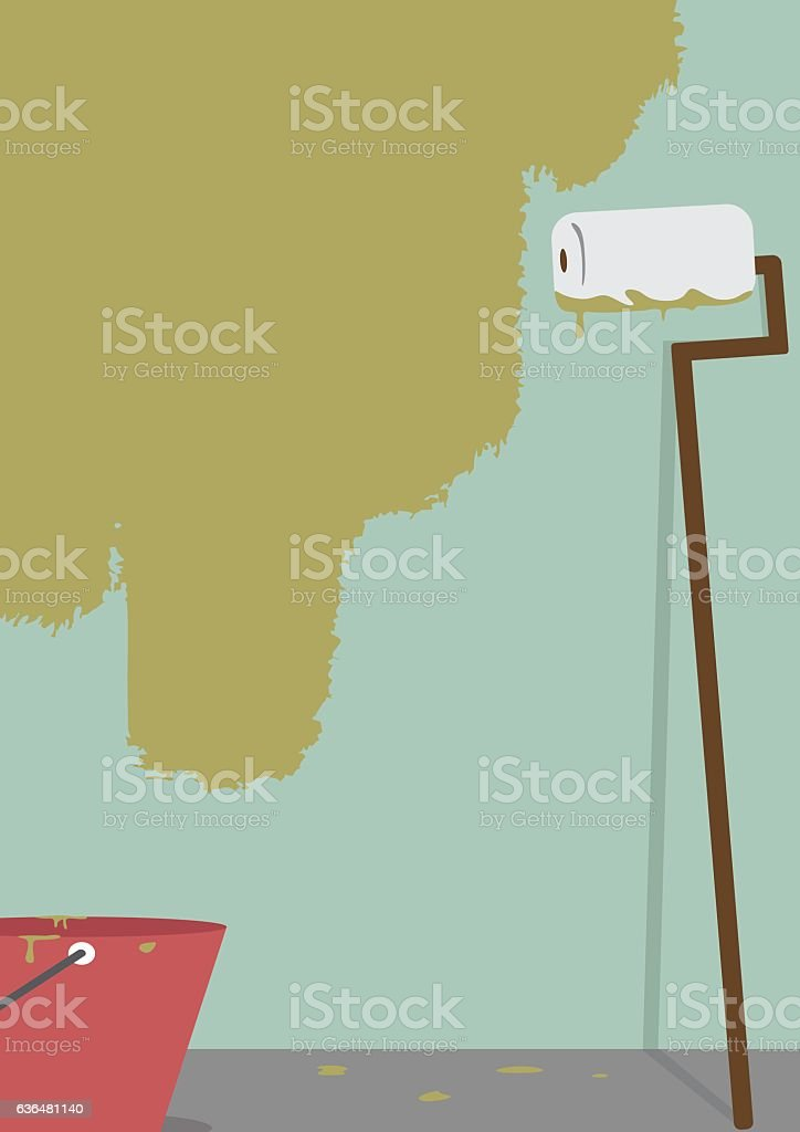 wall painting vector art illustration
