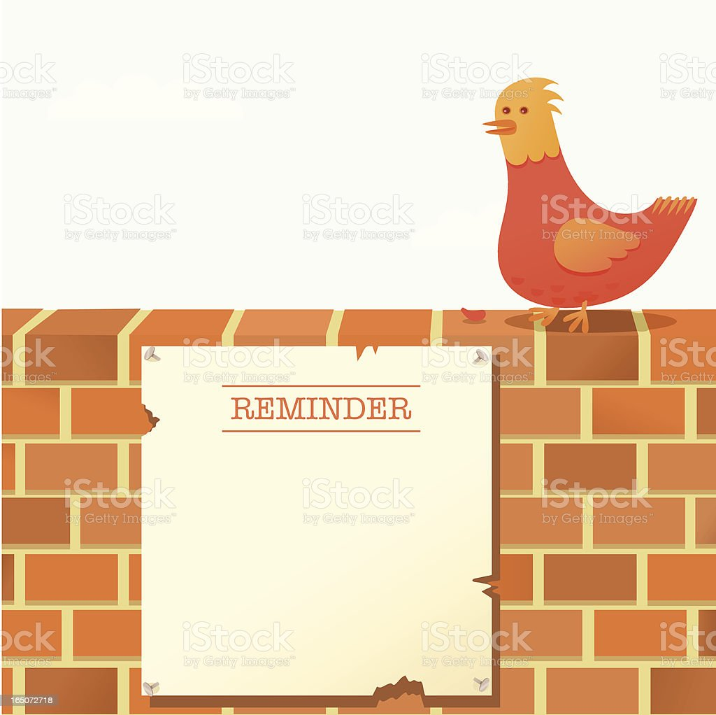 Wall Reminder vector art illustration