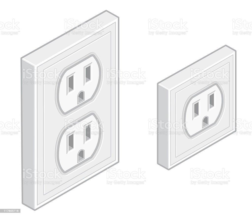 Wall Socket Plug Icon royalty-free stock vector art