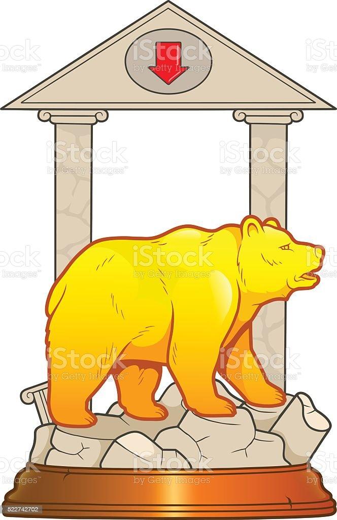 Wall Street Bear vector art illustration