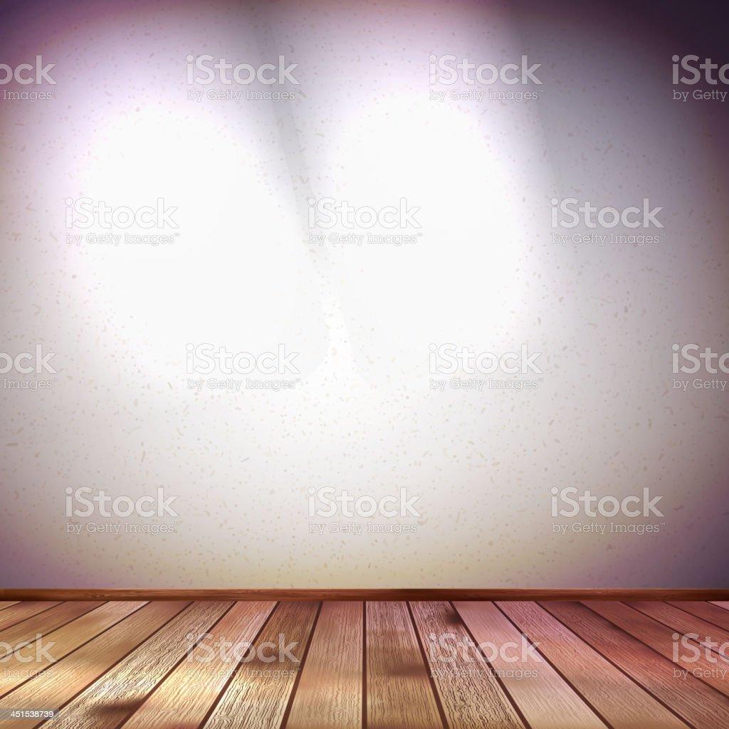 Wall with a spot illumination. EPS 10 royalty-free stock vector art