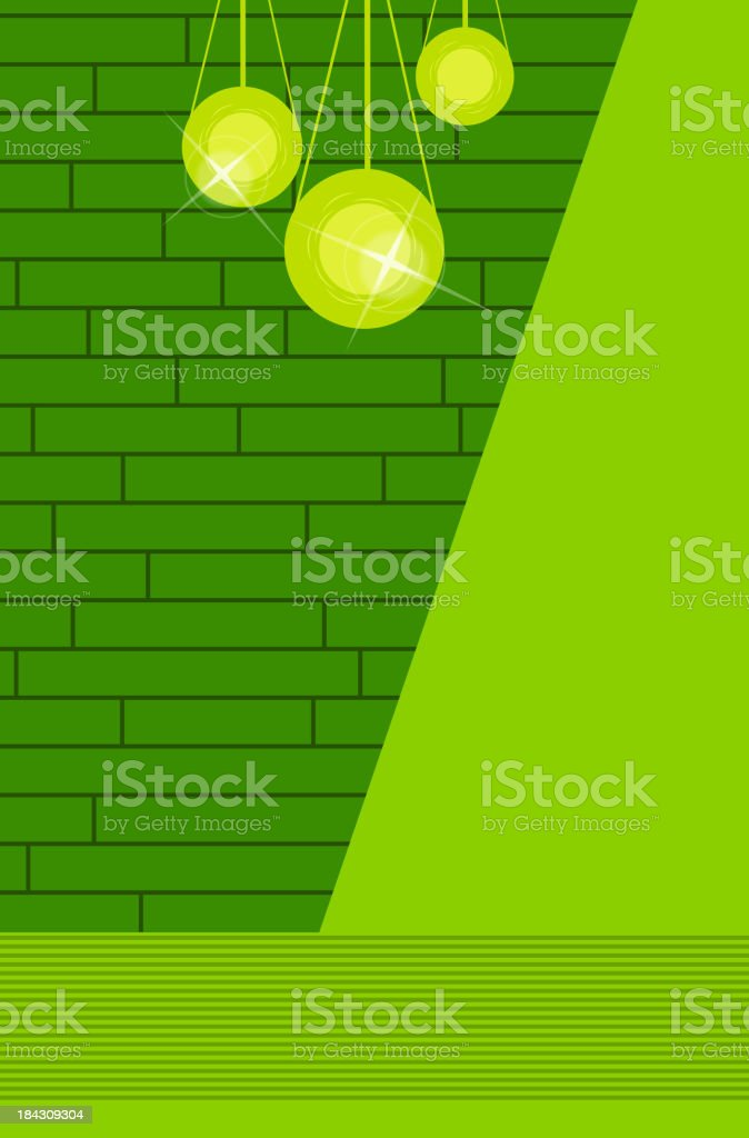 Wall with lamp royalty-free stock vector art
