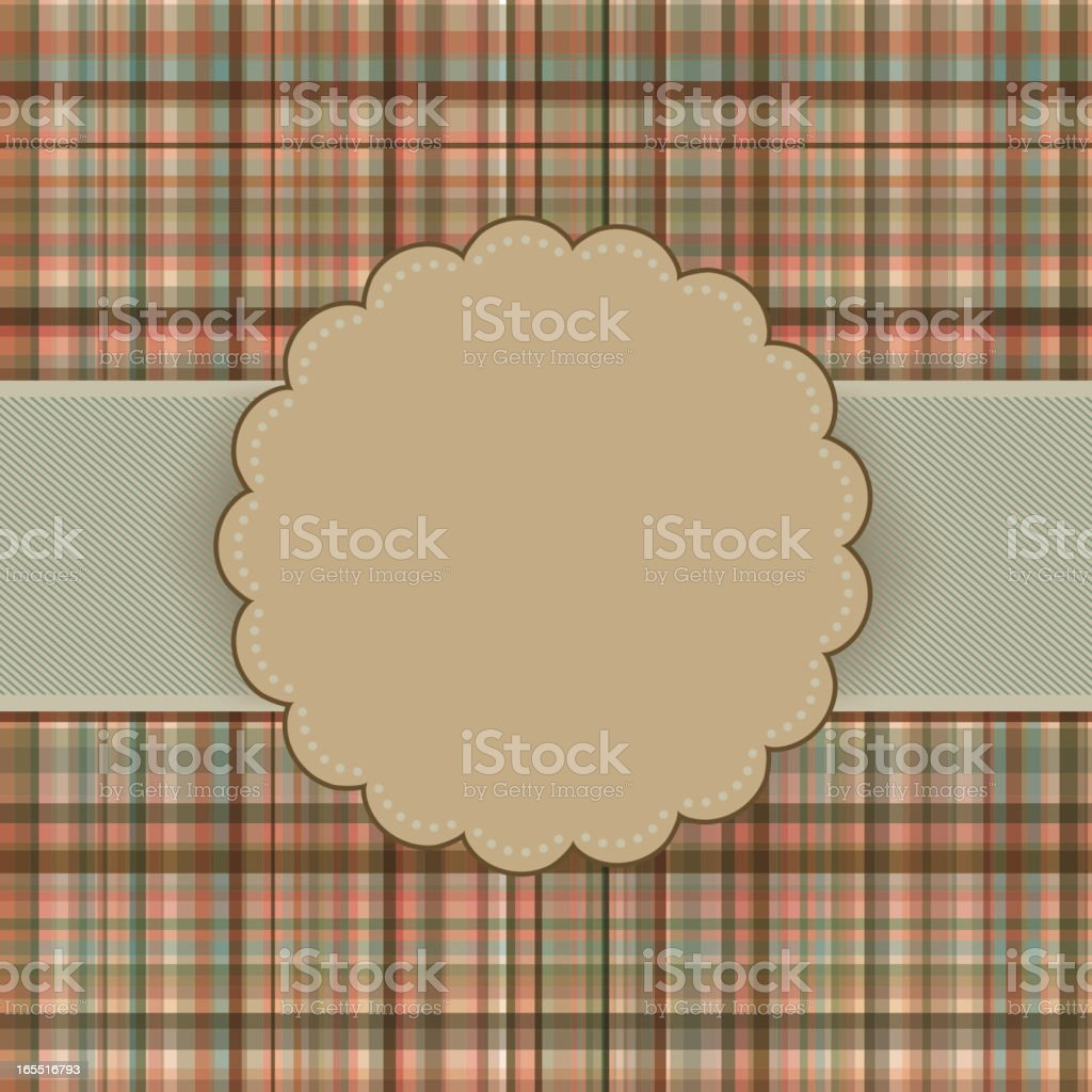 Wallace tartan vintage card background. EPS 8 royalty-free stock vector art