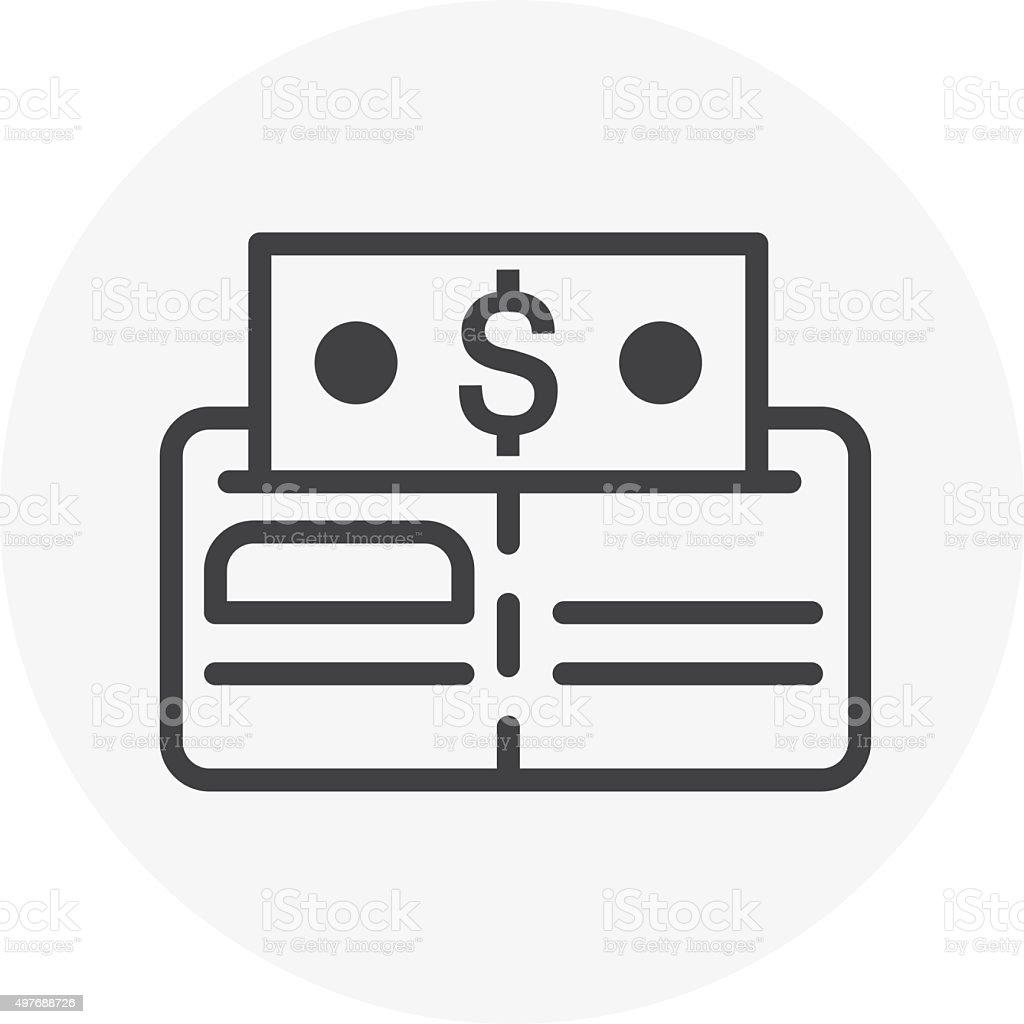 Wallet, budget icon vector art illustration