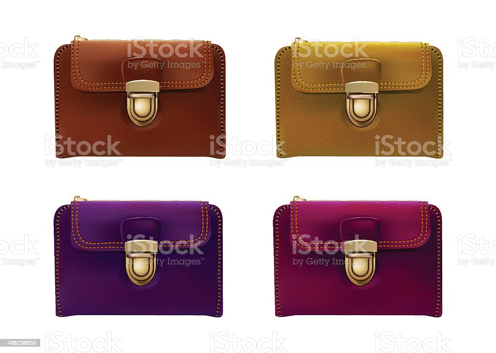 wallet collection vector art illustration