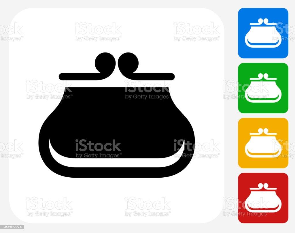 Wallet Icon Flat Graphic Design vector art illustration