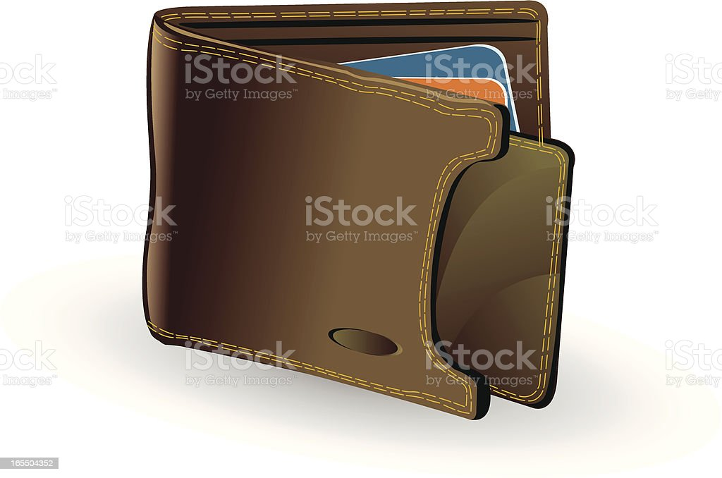 Wallet royalty-free stock vector art