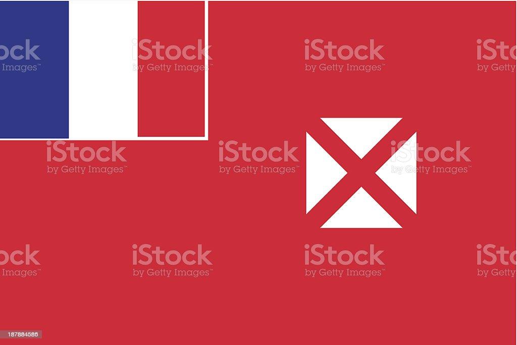 Wallis and Futuna Flag royalty-free stock vector art
