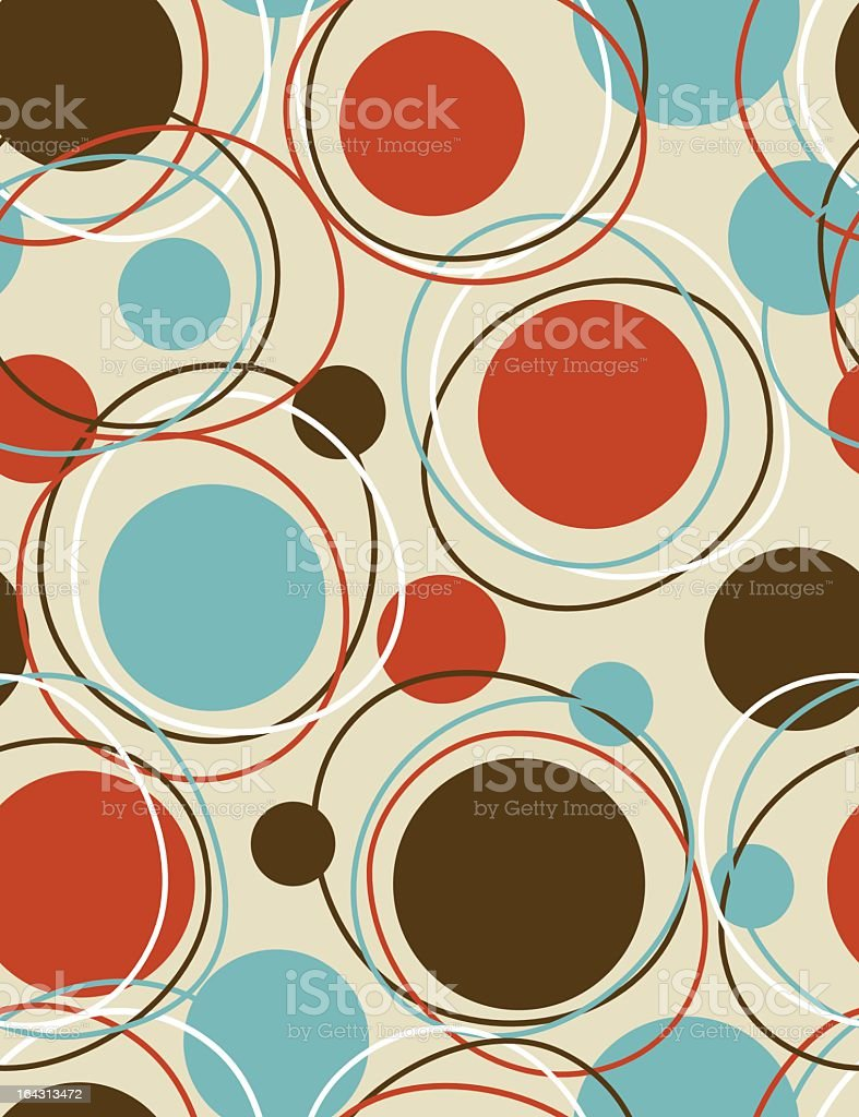 Wallpaper of different sized dots with rings around them vector art illustration