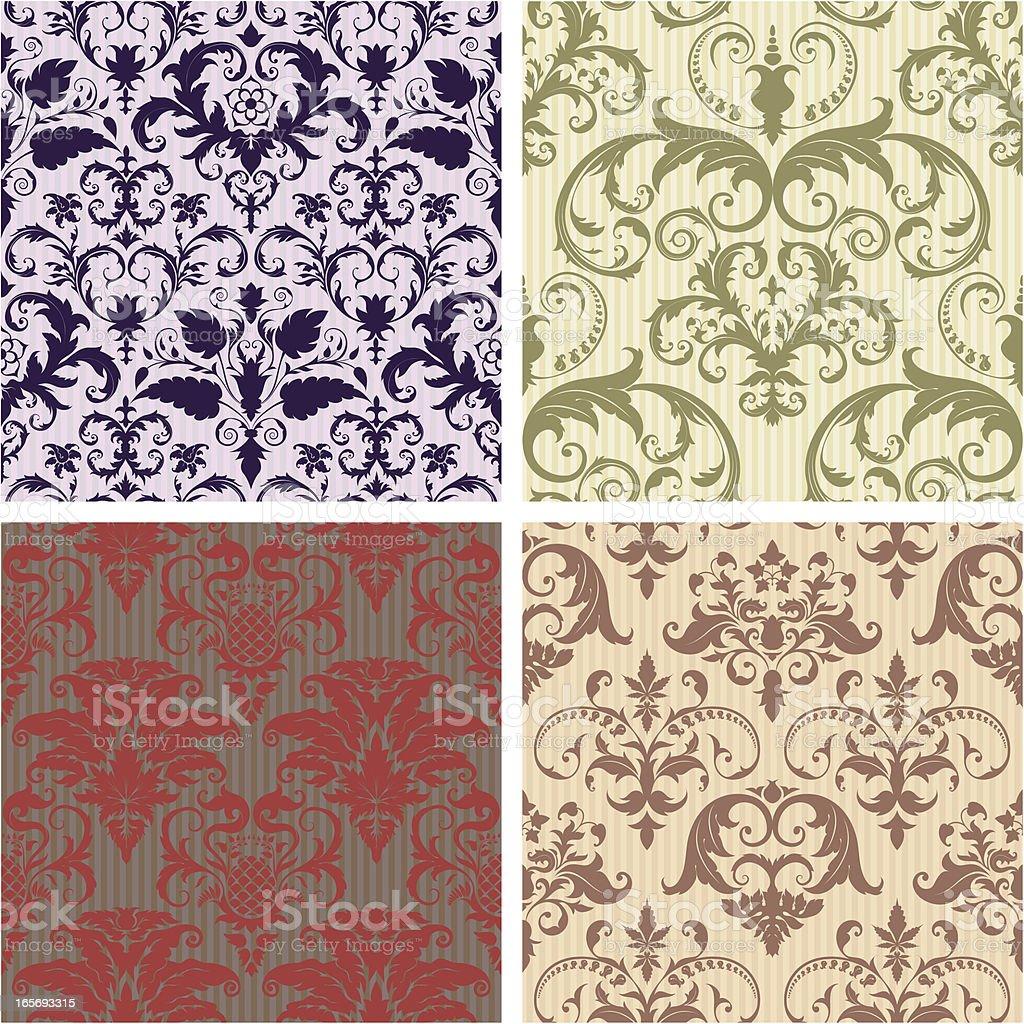 Wallpaper Patterns royalty-free stock vector art