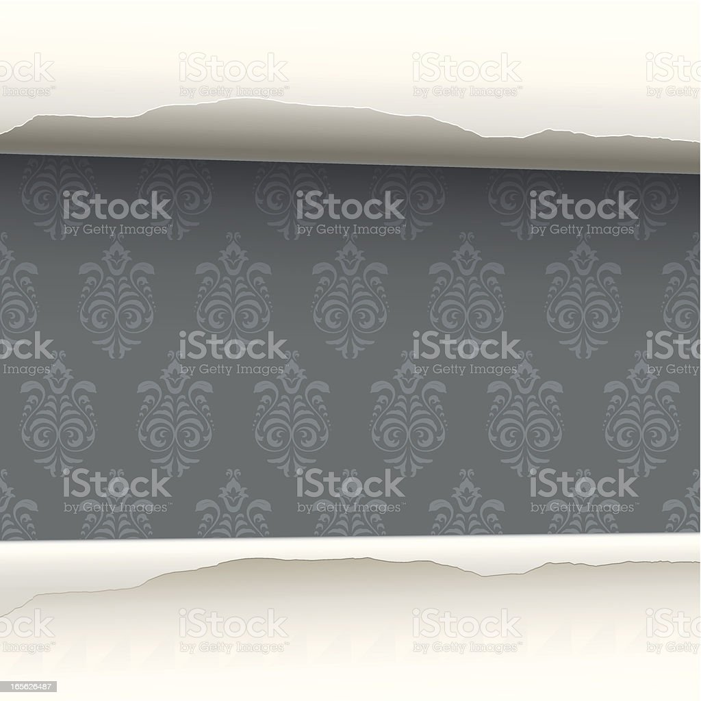 Wallpaper revealed background royalty-free stock vector art