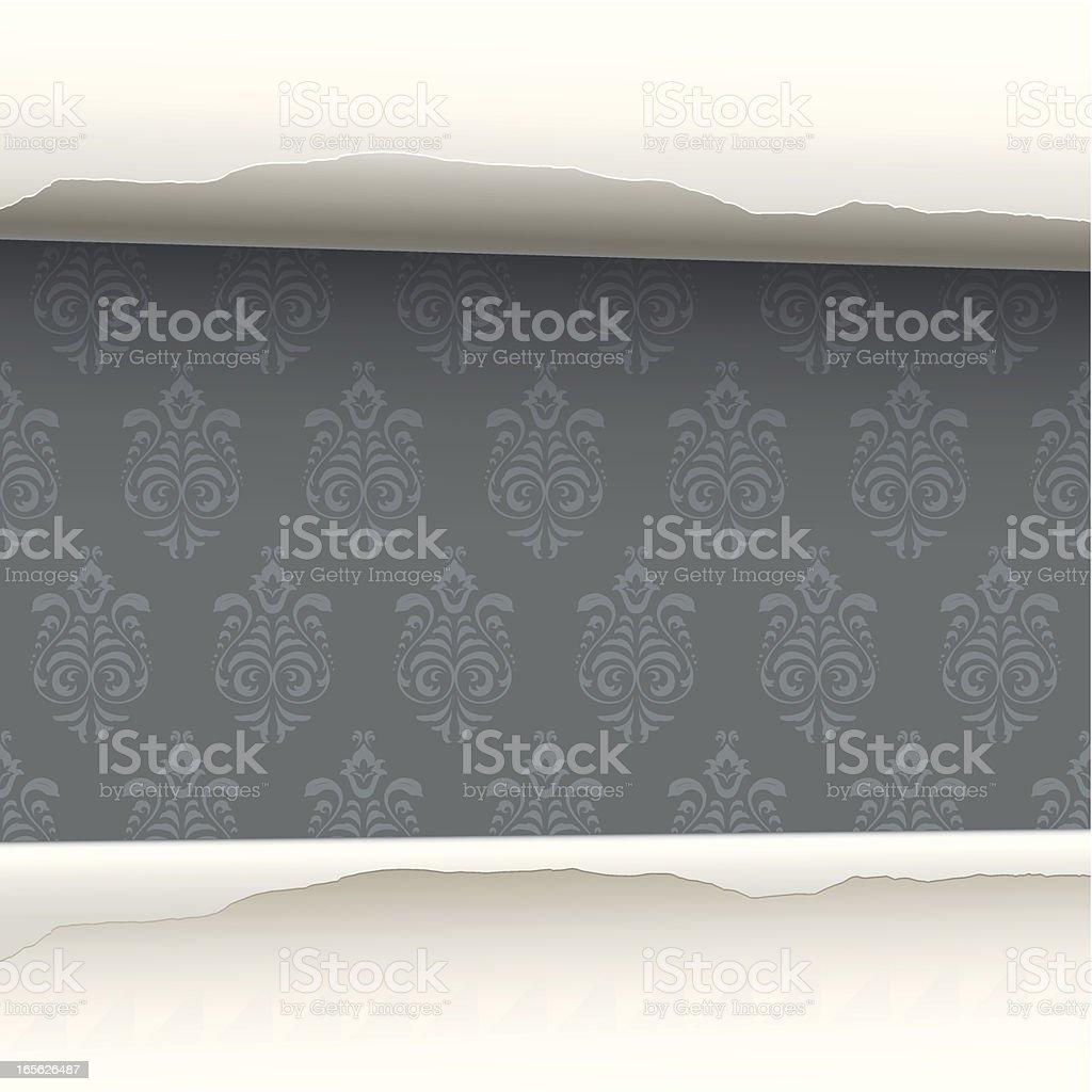 Wallpaper revealed background vector art illustration