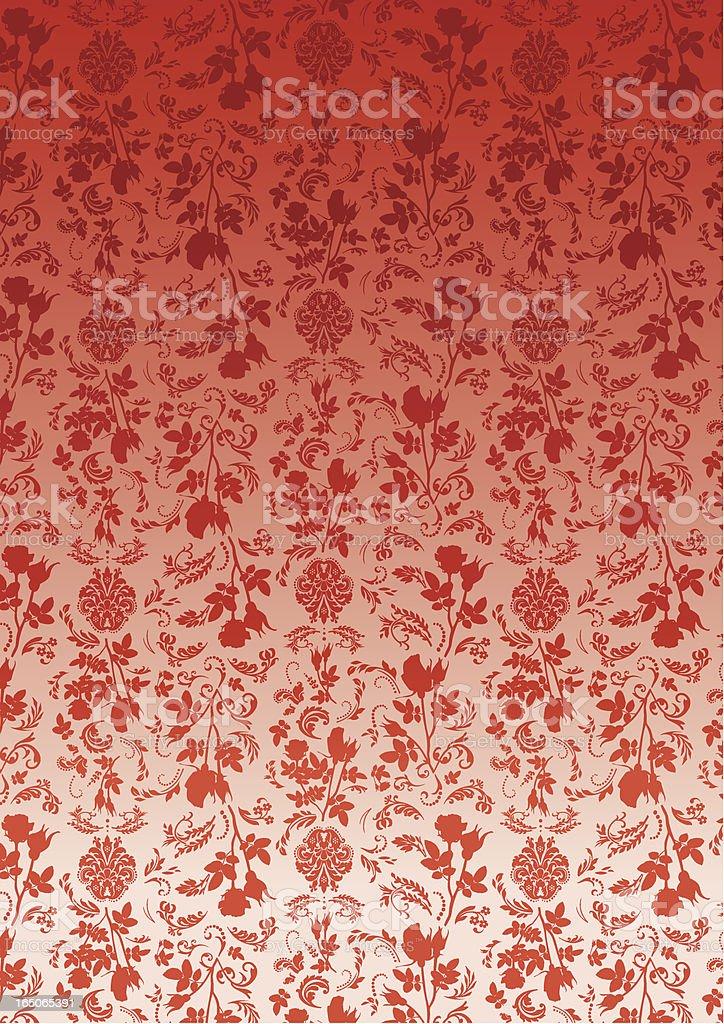 Wallpaper - Rose royalty-free stock vector art