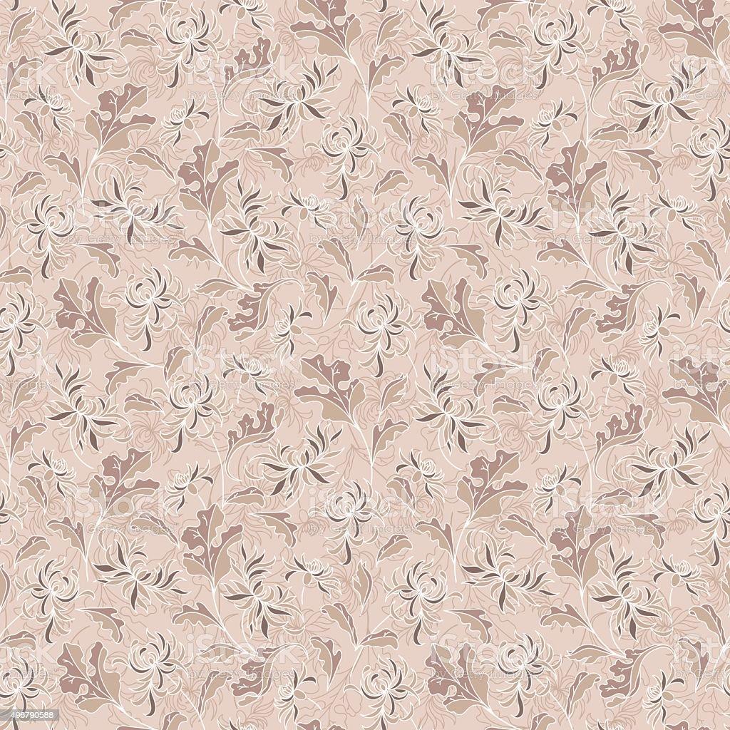 wallpaper seamless vintage flower pattern vector art illustration