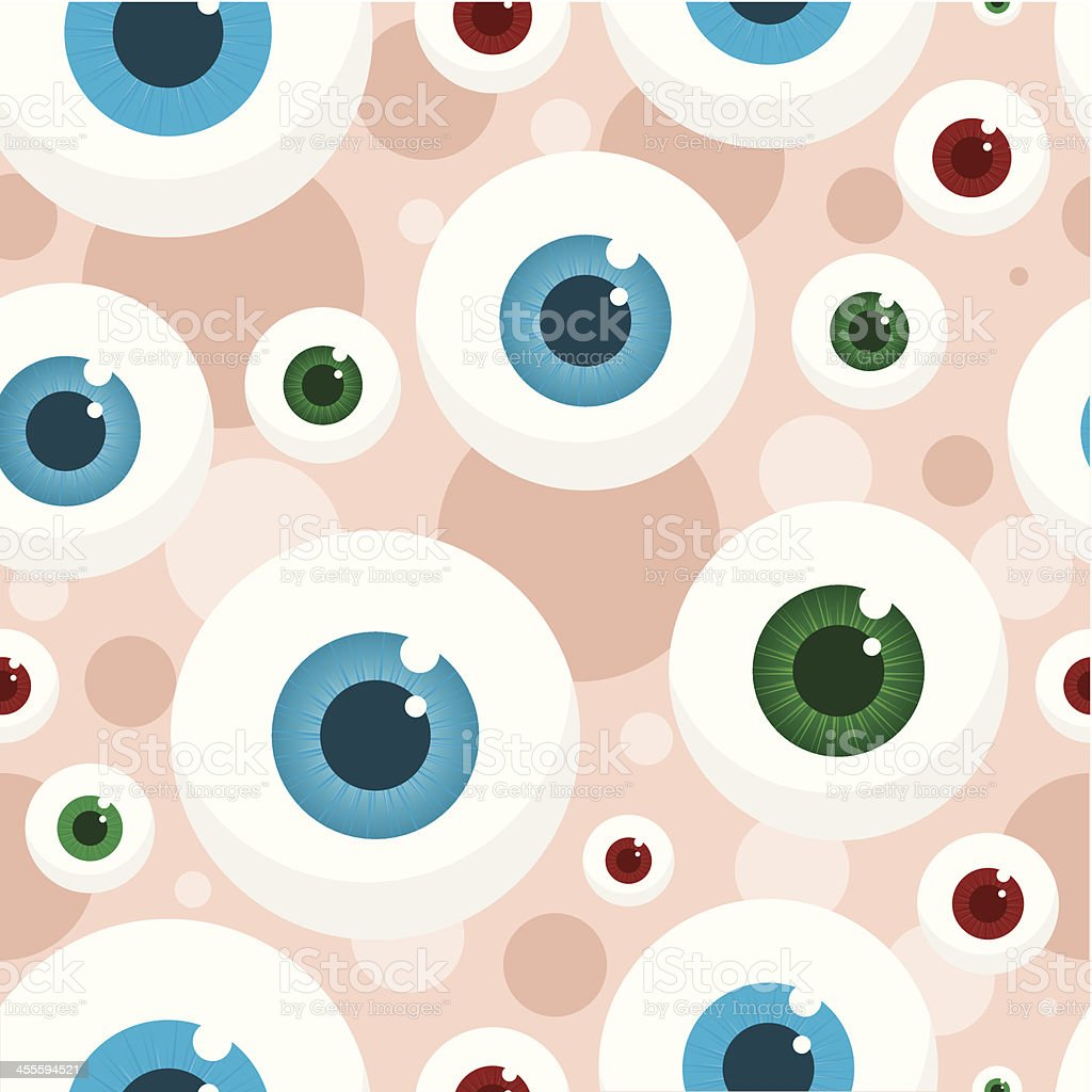 Wallpaper with eyes royalty-free stock vector art