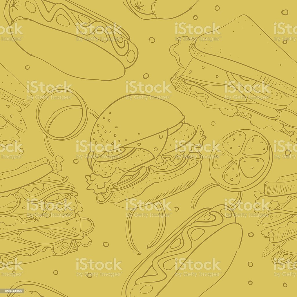 wallpaper with fast food royalty-free stock vector art