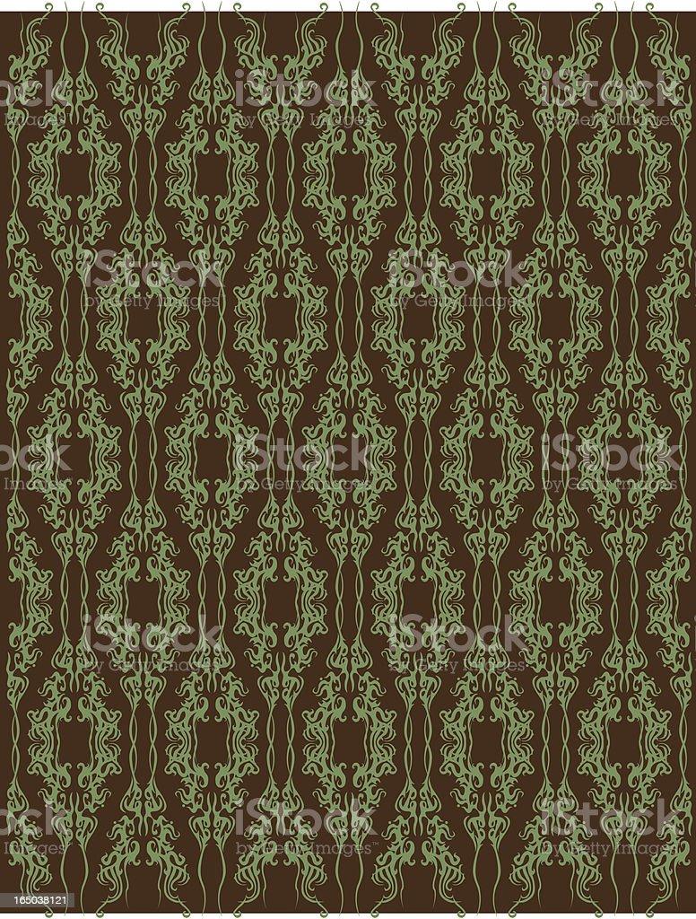 wallpaper-Wald Dekor Lizenzfreies vektor illustration