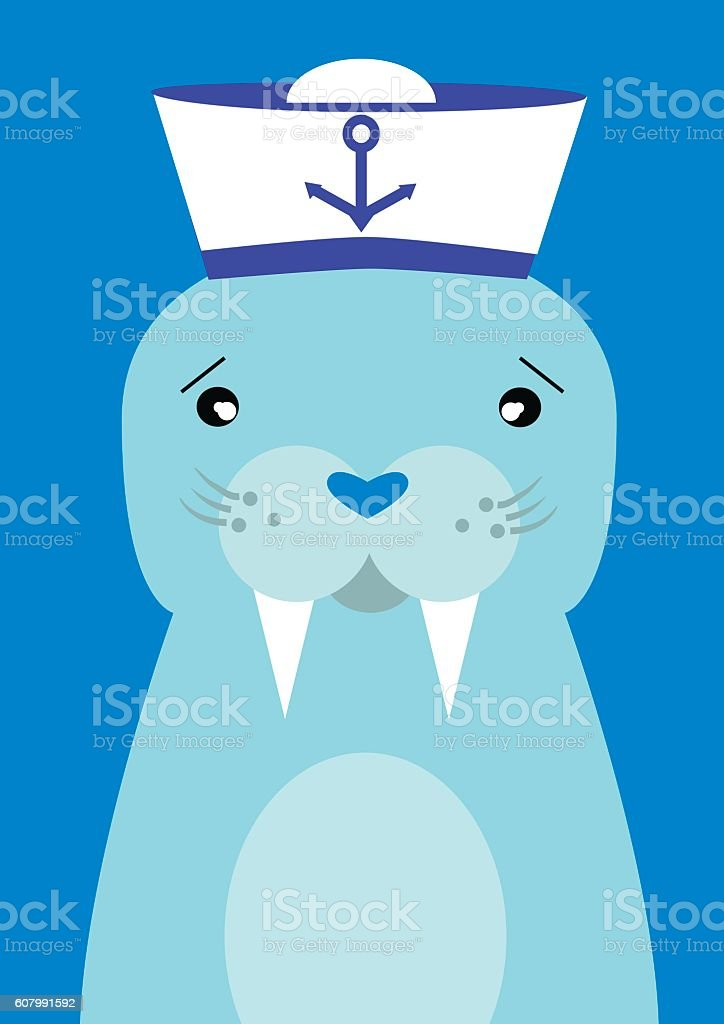Walrus vector art illustration