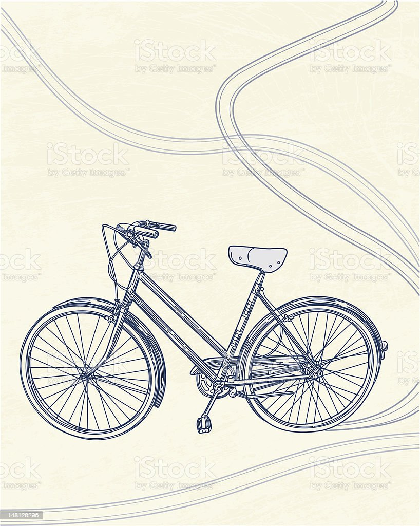 I Want to Ride My Bicycle... royalty-free stock vector art