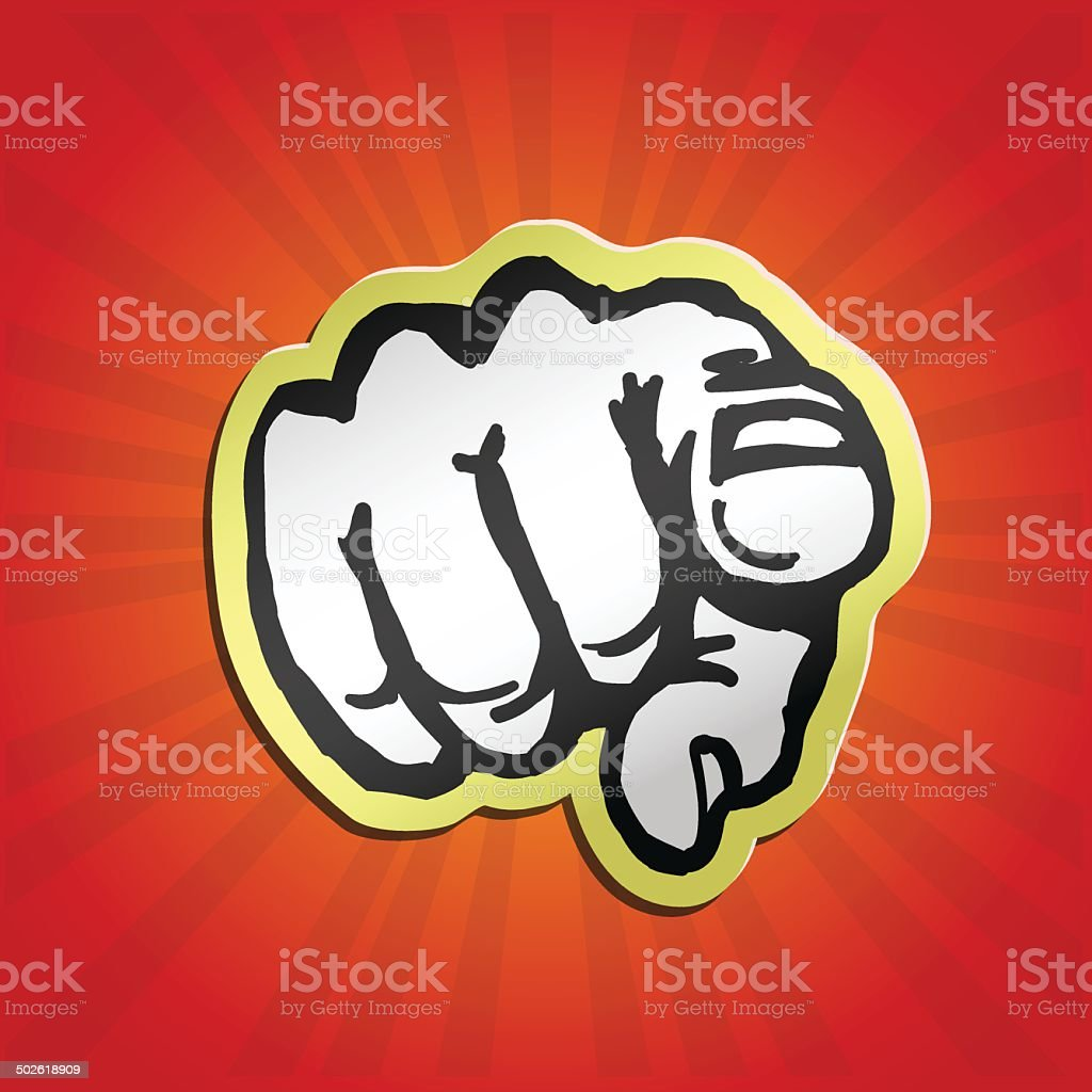 I want you! pointing finger retro vector illustration vector art illustration