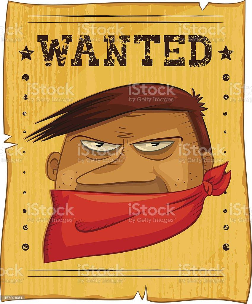 wanted bandit royalty-free stock vector art