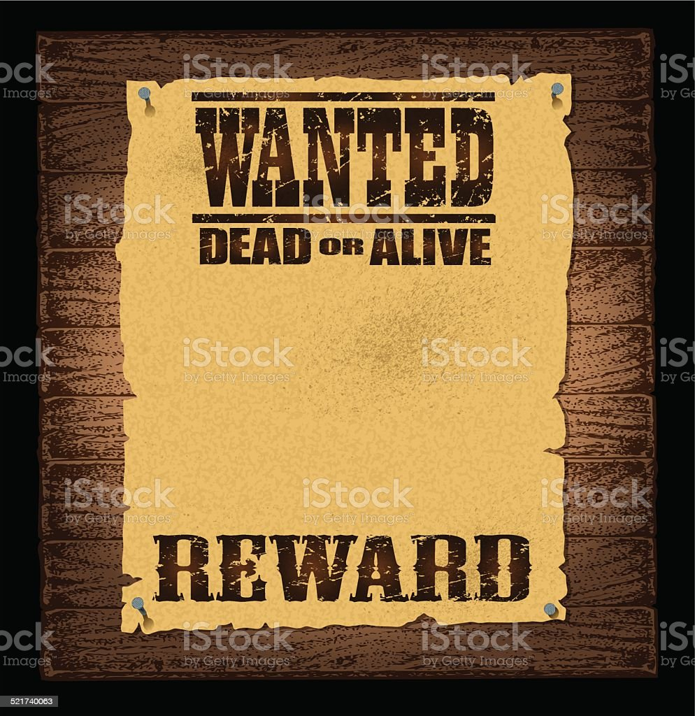 Wanted Poster Background vector art illustration