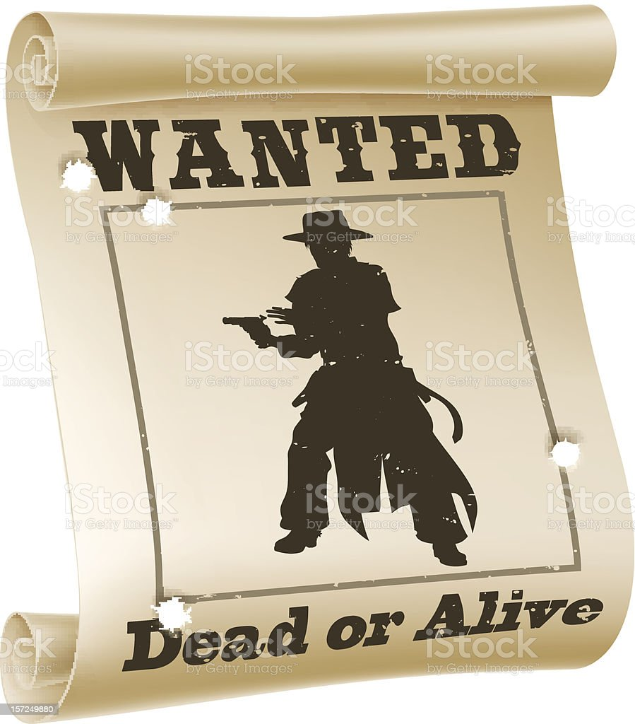 Wanted poster illustration royalty-free stock vector art