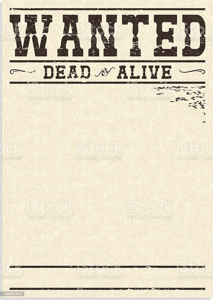 Wanted Poster Clip Art Vector Images Illustrations iStock – Picture of a Wanted Poster