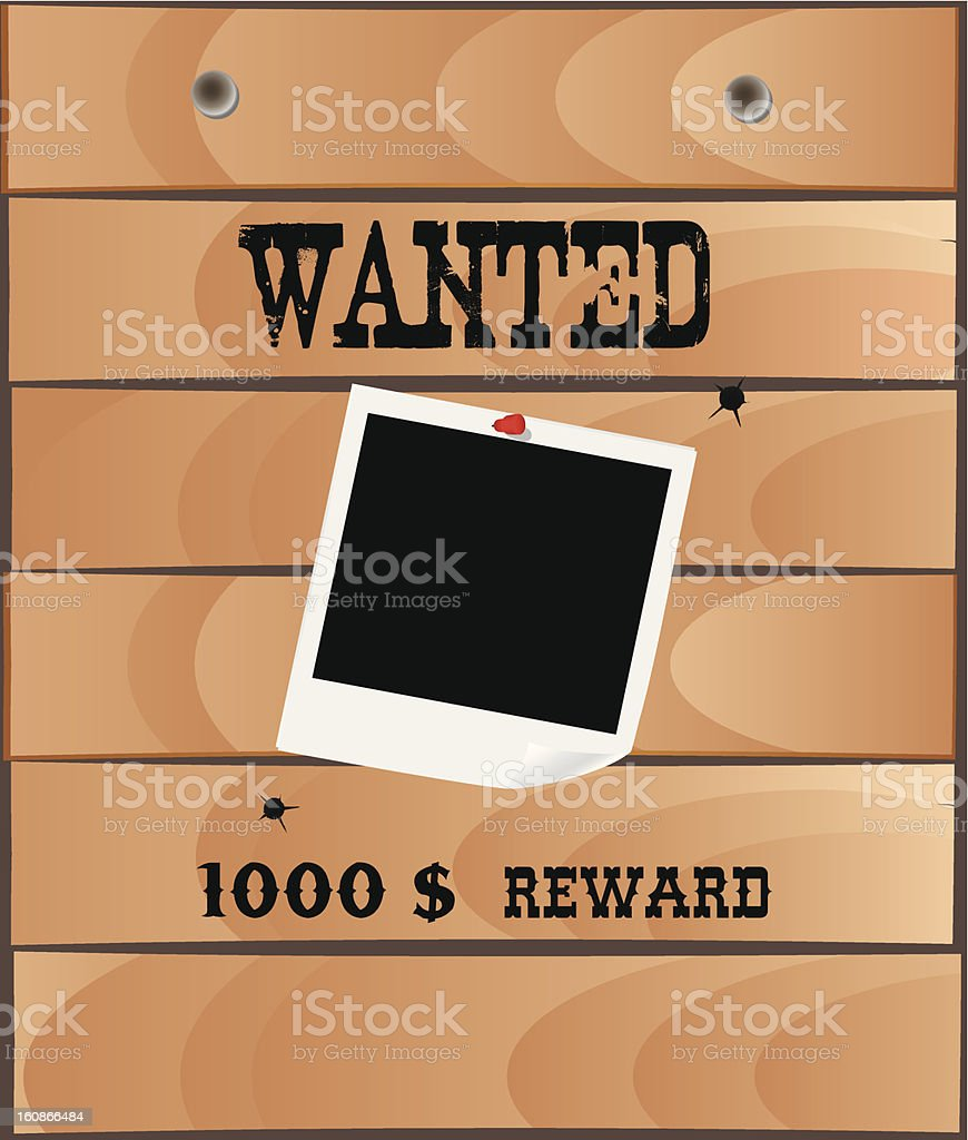 Wanted poster, vector royalty-free stock vector art