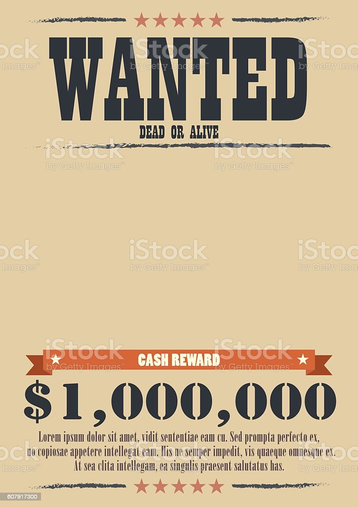 Wanted Vintage Poster vector art illustration