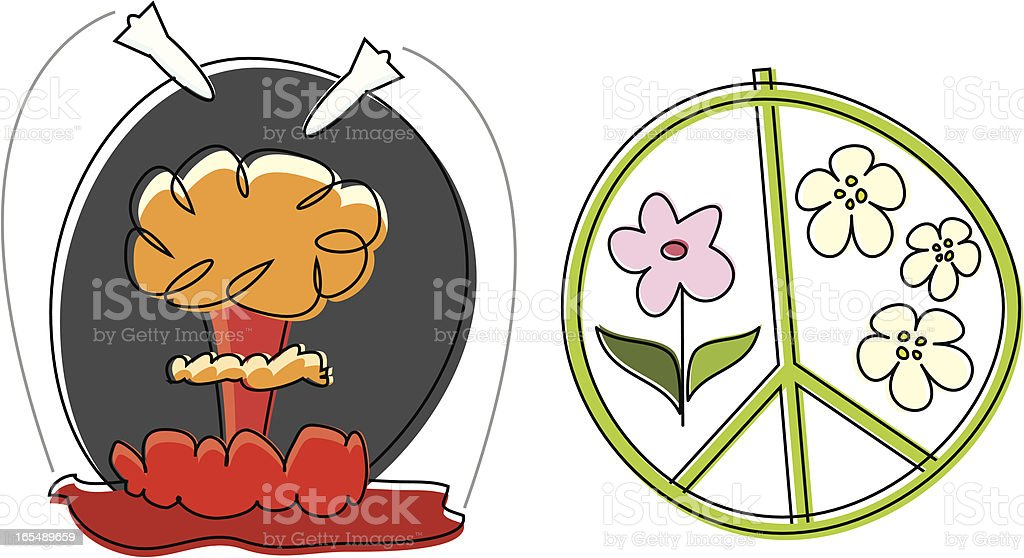 War and Peace royalty-free stock vector art
