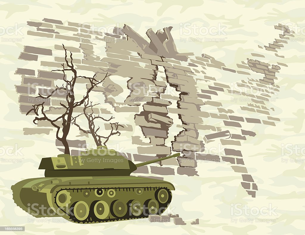 War and the United States vector art illustration