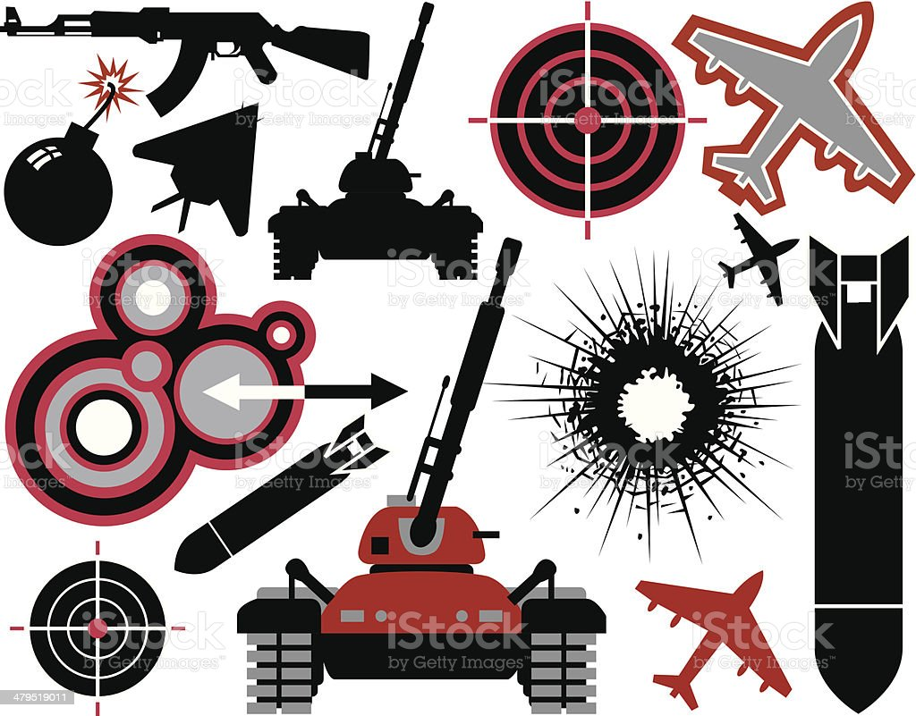 War elements royalty-free stock vector art