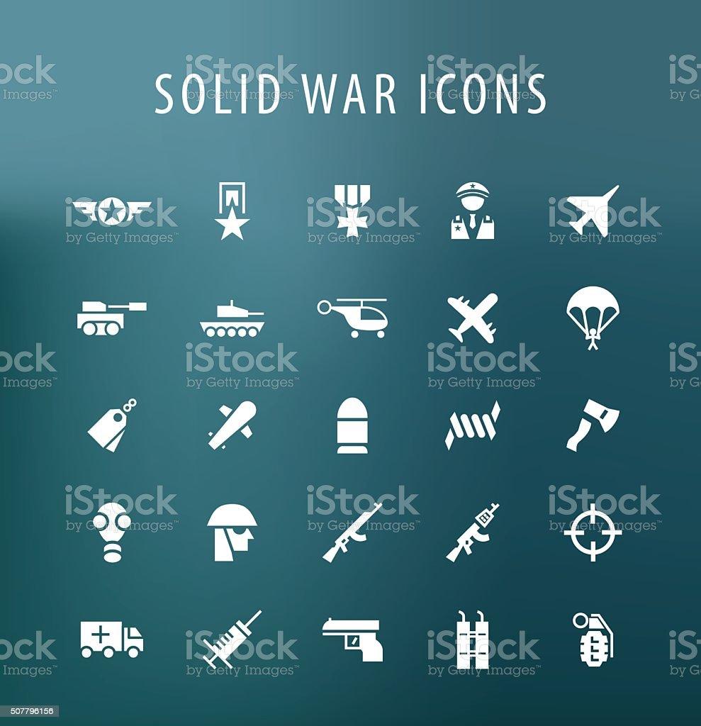 War Icons. vector art illustration