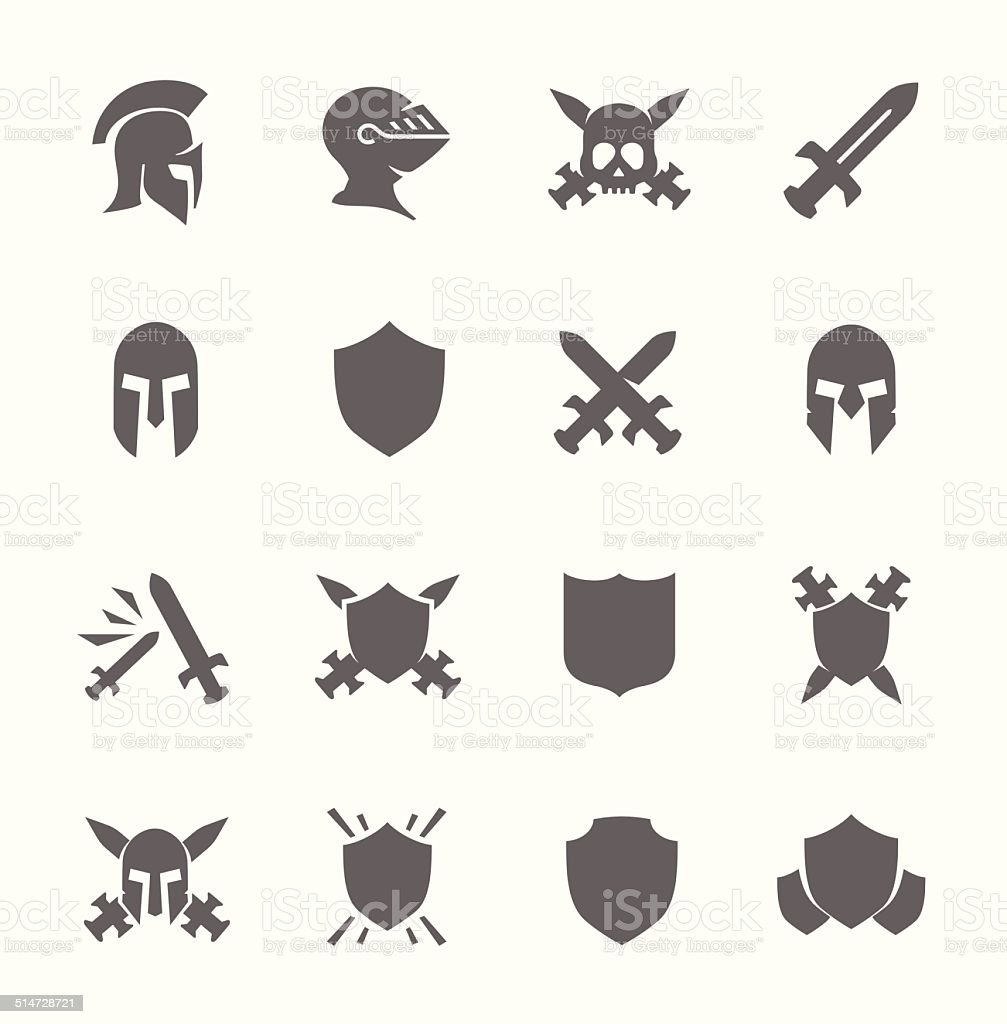 War icons vector art illustration