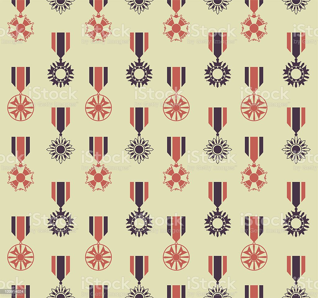 war medals pattern royalty-free stock vector art