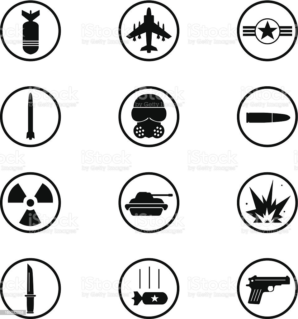 War Military Icons royalty-free stock vector art