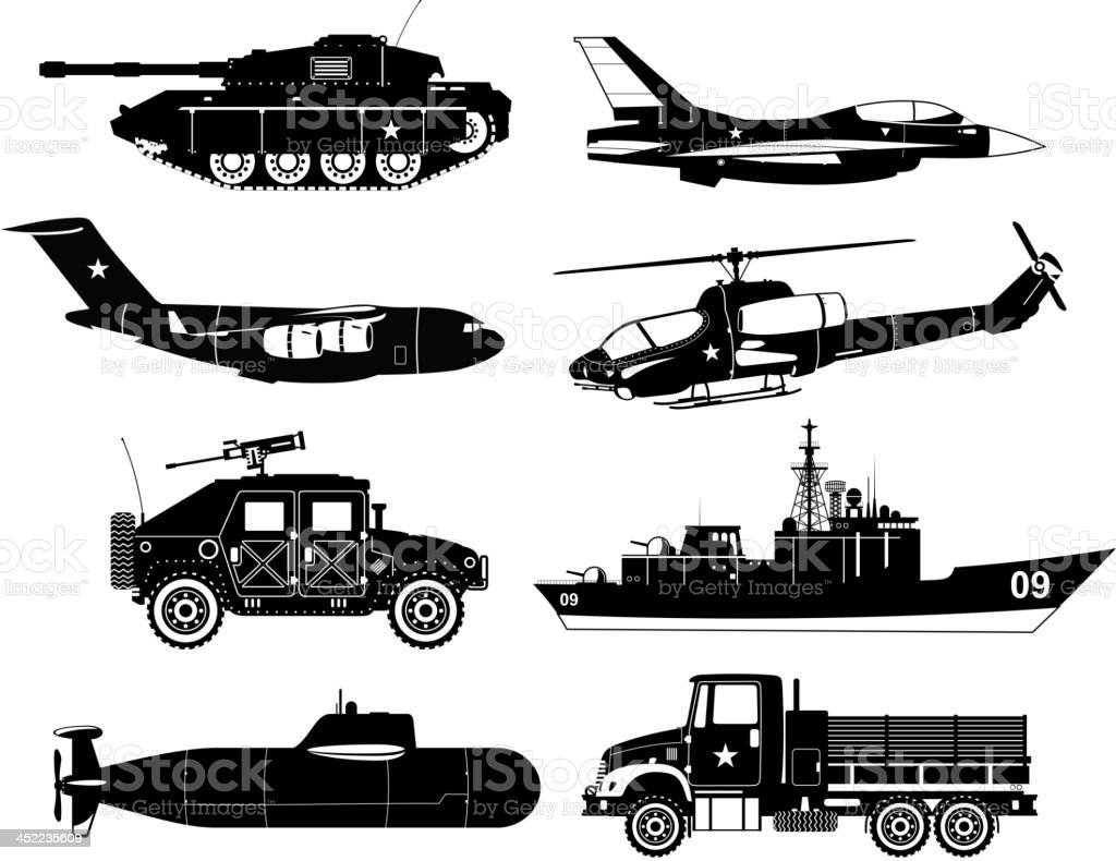 War military Vehicles 1 royalty-free stock vector art